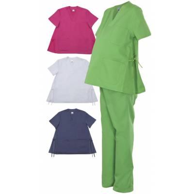 Casaca manga corta tipo pijama para embarazada