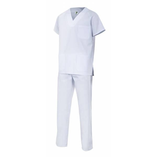 Conjunto pijama sanitario blanco VE800