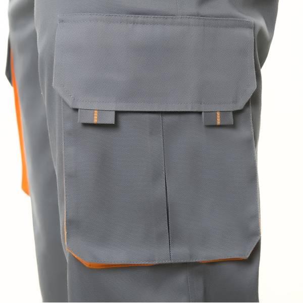 Pantalón de trabajo multibolsillos bicolor