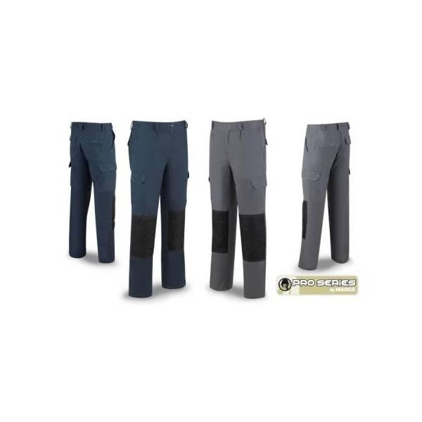 Pantalón de trabajo tejido Strech con rodilleras reforzadas