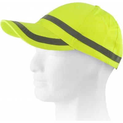 Gorra de alta visibilidad con bandas reflectantes horizontales