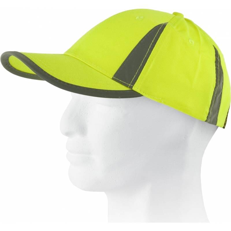 Gorra de alta visibilidad con bandas verticales