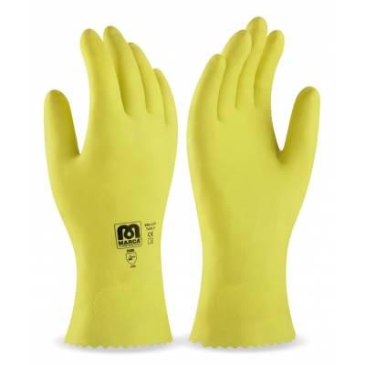 Guante de látex tipo doméstico amarillo