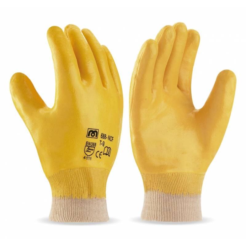 Guante de nitrilo flexible dorso cubierto