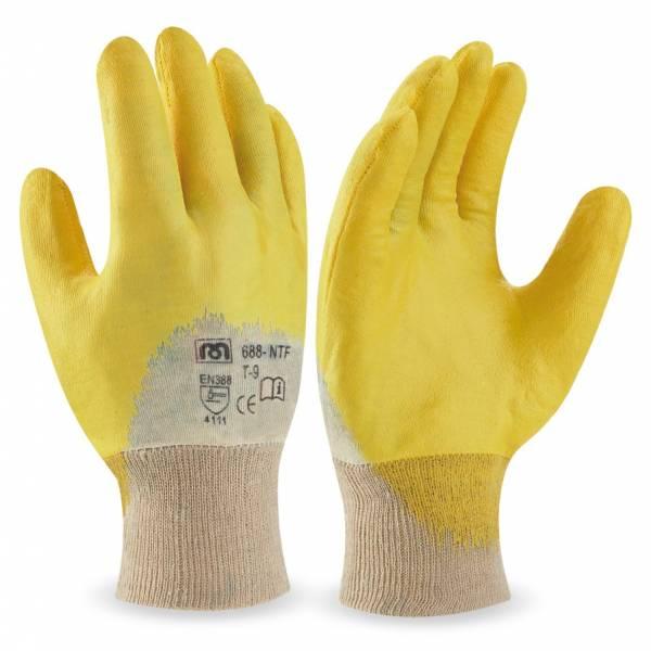 Guante de nitrilo flexible dorso transpirable MA688-NTF