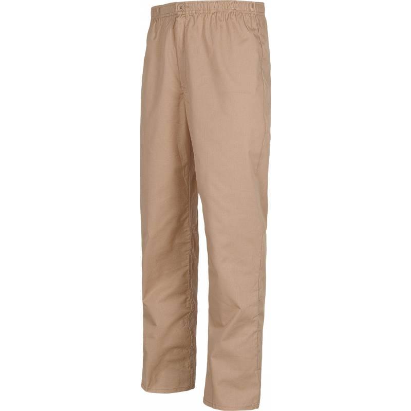 Pantalón recto. Elástico en cintura. Un bolso trasero. Cierre de botón y bragueta de cremallera. WTB9300