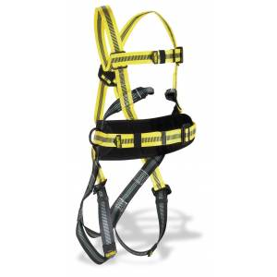 Arnés con enganche frontal y dorsal y cinturón de posicionamiento STEELTEC-1
