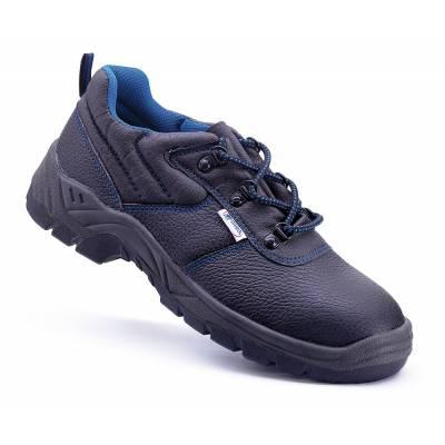 Zapato de seguridad económico S1P de piel negra