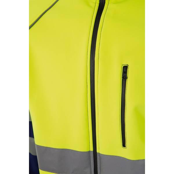 Chaqueta de trabajo Shof-Shell alta visibilidad bicolor