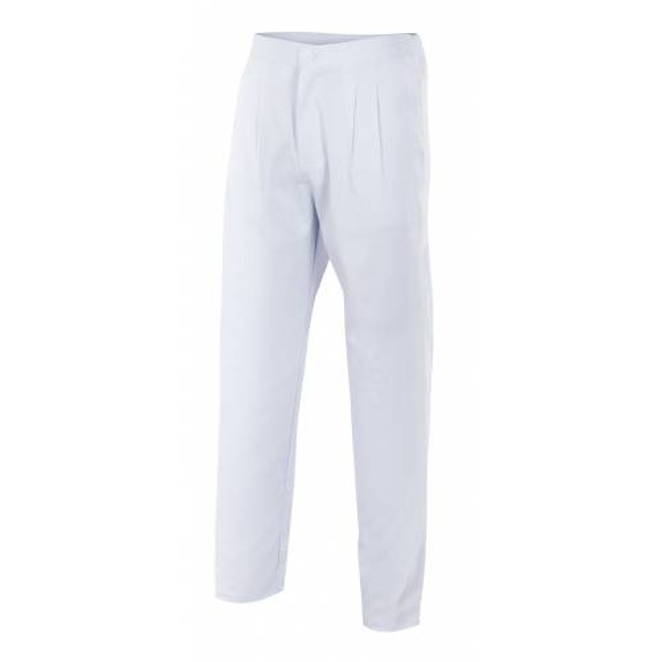 Pantalón con cinturilla elástica, cremallera y pinzas - 337