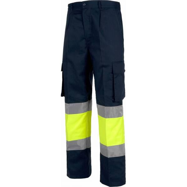 Oferta. Pantalón bicolor alta visibilidad elástico en cintura