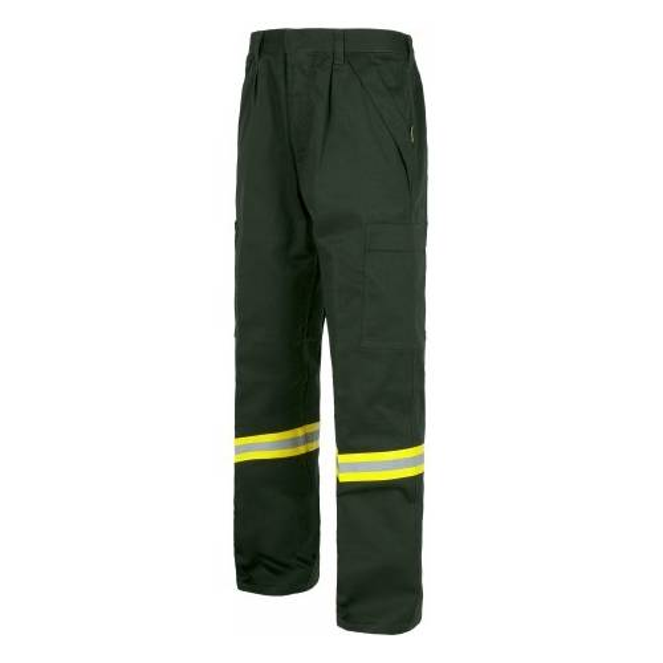 liquidación. Pantalón ignífugo verde, 100% algodón