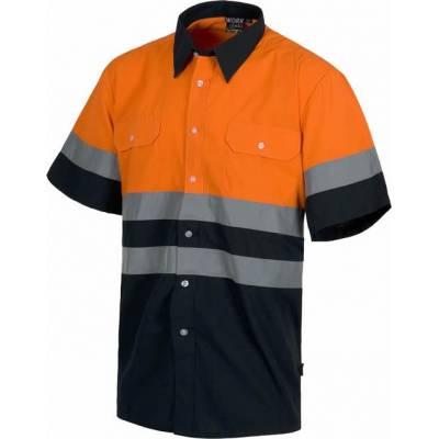 Liquidación. Camisa de manga corta con cierre de botones