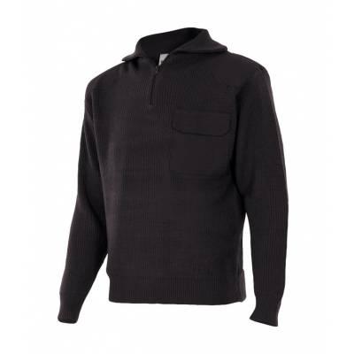 Jersey de punto con cremallera, bolsillo y refuerzo hombros y codos