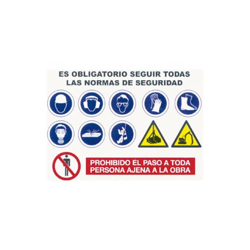 Carteles informativos combinados de obra (Normas de uso obligatorio)