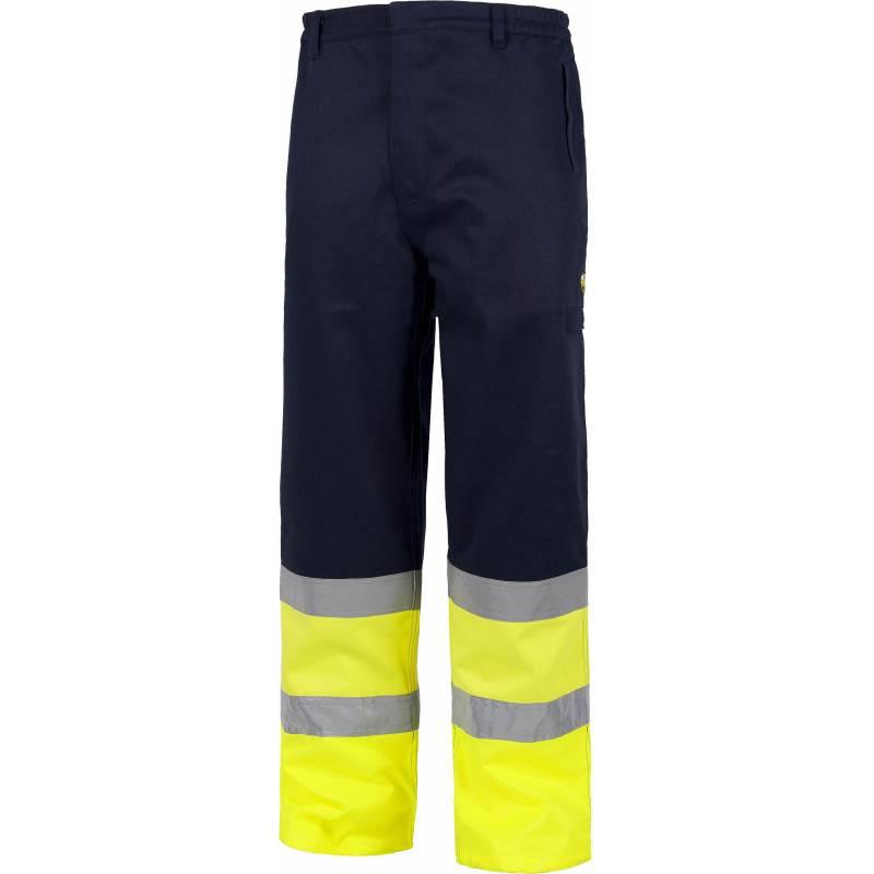 Pantalón ignífugo y antiestático alta visibilidad