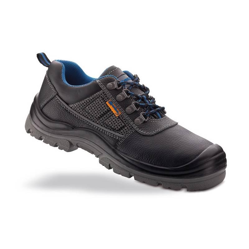 Zapato de seguridad piel negra en S3 con suela de Poliuretano
