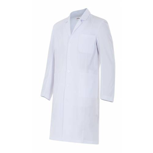 Bata de caballero en manga larga color blanco