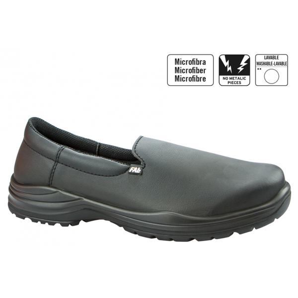 Zapato de piel sin cordones anti deslizante