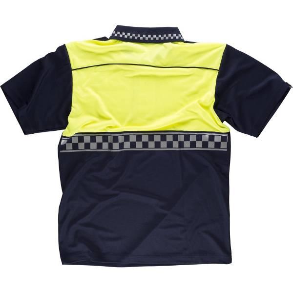 Polo policía manga corta combinado con cinta reflectante termosellada