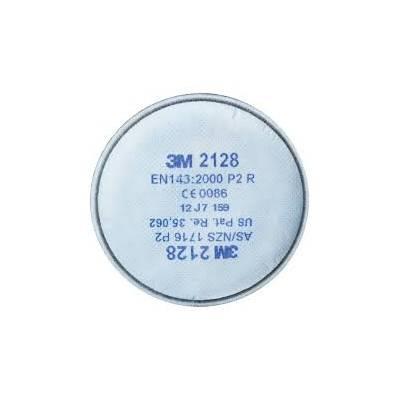 3M 2128 Filtro P2R, contra vapores orgánicos y gases ácidos. Caja 20 uds.