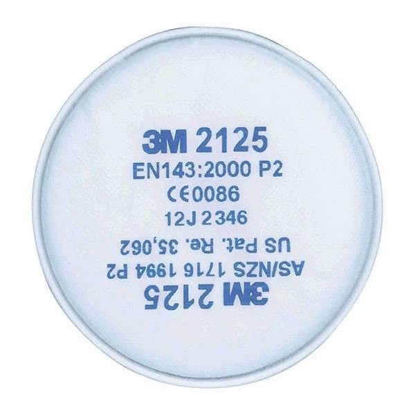 Filtro 3M P2R contra partículas para acoplar directamente en mácara EN 143:2000/A1:2006. Caja 20 uds.
