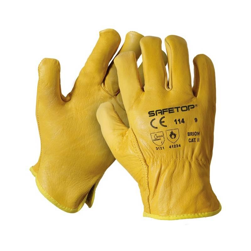 Guante de piel brión amarillo