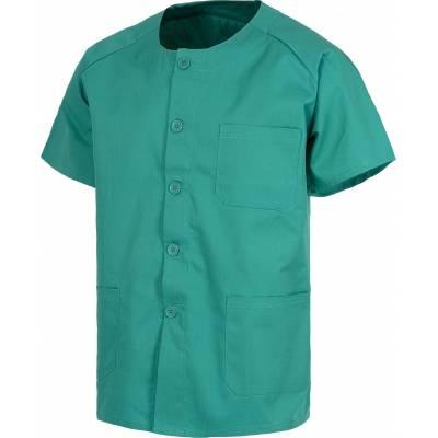 Casaca sanitario botones manga corta, un bolso de pecho y dos bajos. WTB9400