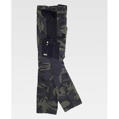 Pantalón reforzado estampado en camuflaje
