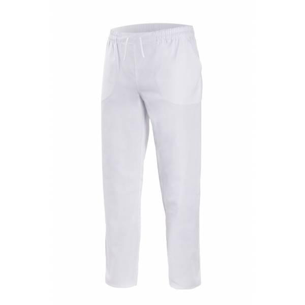 Pantalón sanitario con goma elástica, cordón y dos bolsillos