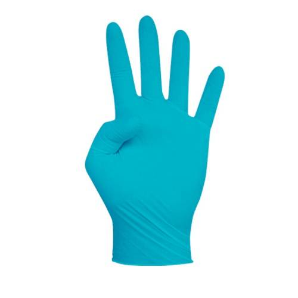 Guante de nitrilo azul sin polvo