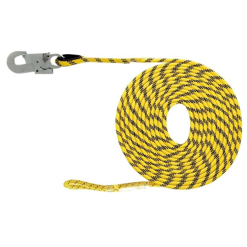 Línea de vida horizontal de 50 m de largo y 10.5 mm de ancho con mosquetón 80255