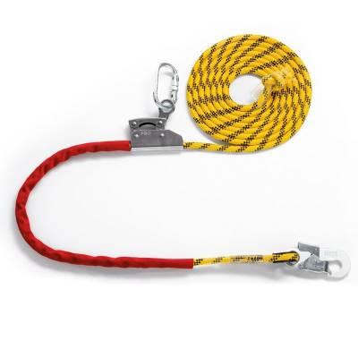 Cuerda de posicionamiento con altochut y mosquetones de 4 m de largo 80241