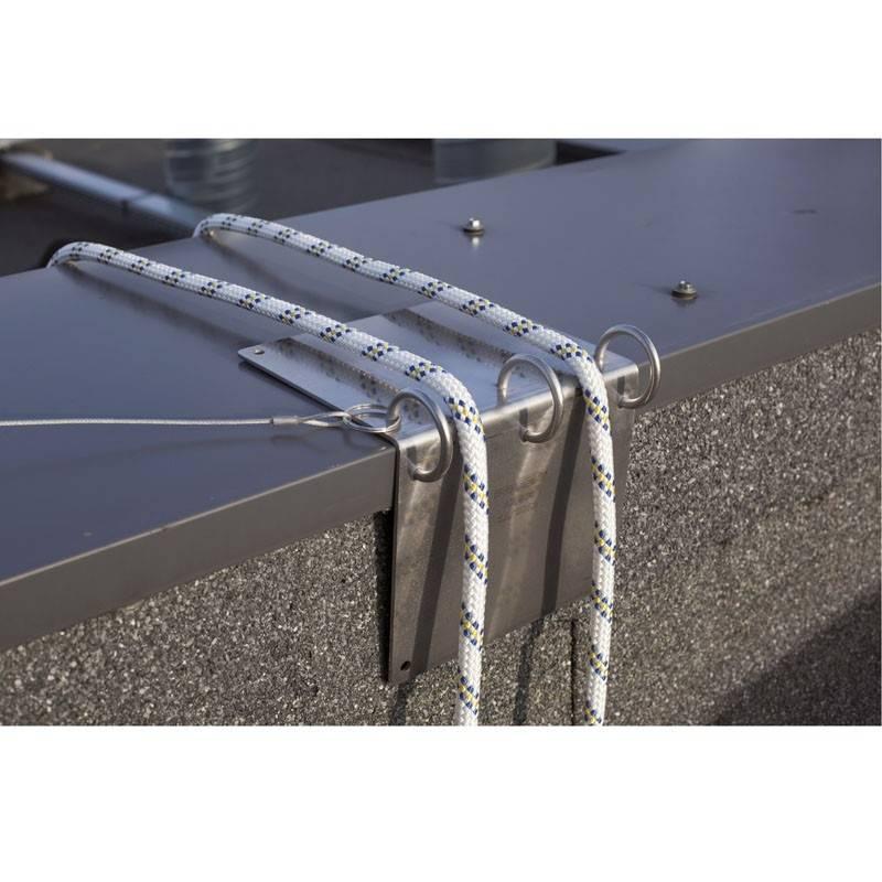 Protector para líneas de  vida de acero inox. 80205