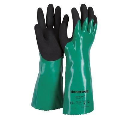Guante químico de nitrilo verde MAXCOAT STG209