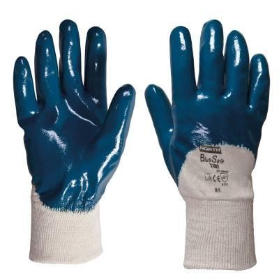 Guante sintético con el dorso aireado de nitrilo BLUE-SAFE STGT101