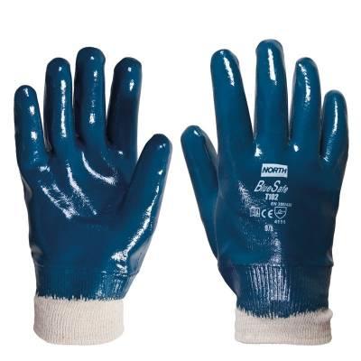 Guante de nitrilo sintético recubierto BLUE-SAFE STGT102