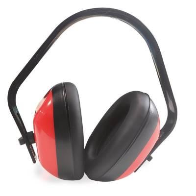 Protector auditivo dieléctrico con las copas rojas ST82600