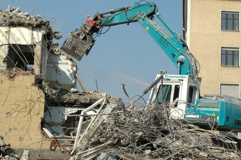 Demolición de edificios, prevención y riesgos