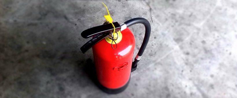 Extintores: tipos y mantenimiento